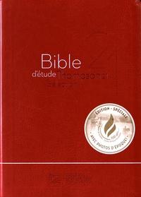 Deedr.fr Bible d'étude Thompson 21 Sélection - Couverture souple Vivella rouge Image