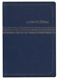 Société biblique française - La Sainte Bible - Vinyle marine embossage argent.