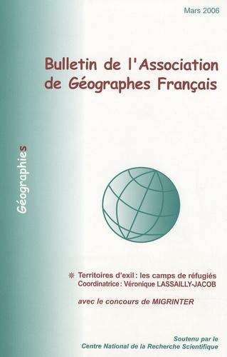 Véronique Lassailly-Jacob - Bulletin de l'Association des Géographes français Mars 2006 : Territoires d'exil : les camps des réfugiés.