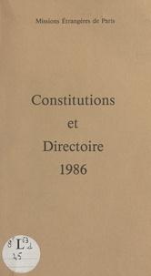 Société des Missions Étrangère et Jozef Tomko - Constitutions et Directoire 1986.
