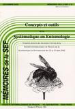 J Pierre et R Roy - Mémoires de la SEF N° 6, 2002 : Concepts et outils de la Systématique en Entomologie.