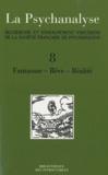 Société française psychanalyse - La Psychanalyse - 8 volumes.