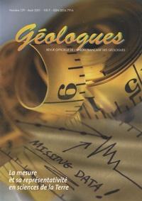 Gérard Sustrac - Géologues N° 129, Août 2001 : La mesure et sa représentativité en sciences de la Terre.