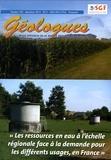 Gérard Sustrac - Géologues N° 183, décembre 201 : Les ressources en eau à l'échelle régionale face à la demande pour les différents usages, en France.