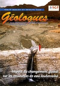 Gérard Sustrac - Géologues N° 187, décembre 201 : Impact du changement global sur les ressources en eau souterraine.