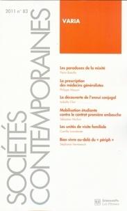 Pierre Bataille et Philippe Masson - Sociétés contemporaines N° 83, 2011 : Varia.