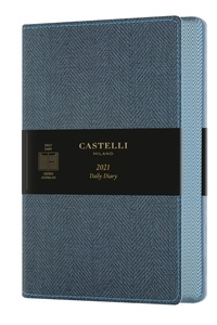 SODIS - Agenda journalier grand format Harris Blue. Edition 2021