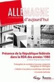 Jacques Poumet - Allemagne d'aujourd'hui N° 194, Octobre-déce : Présence de la République fédérale dans la RDA des années 1980.