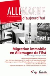 Jacques Poumet - Allemagne d'aujourd'hui N° 198, Octobre-déce : Migration immobile en Allemagne de l'Est.