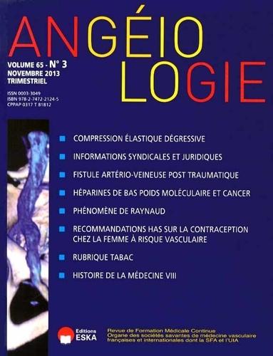 Michèle Cazaubon - Angéiologie Volume 65 N° 3, Nove : .