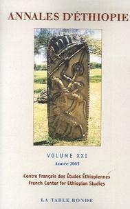 Delphine Lecoutre et Niall Finneran - Annales d'Ethiopie N° 21, 2005 : . 1 Cédérom