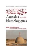 Audrey Dridi-Basilio et Séverine Gabry-Thienpont - Annales islamologiques N° 52/2018 : Chrétiens du monde arabe - Vers une pluralité des sources et des approches.