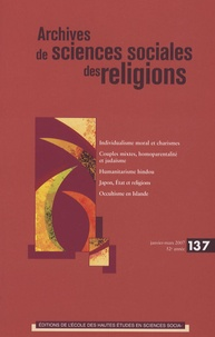 André Mary et Martine Gross - Archives de sciences sociales des religions N° 137, janvier-mars : .