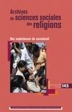 André Mary et Pierre Lassave - Archives de sciences sociales des religions N° 145, Janvier-mars : Des expériences du surnaturel.