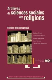 Françoise Aubin - Archives de sciences sociales des religions N° 160, Octobre-déce : Bulletin bibliographique.