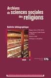 EHESS - Archives de sciences sociales des religions N° 176 : Bulletin bibliographique.