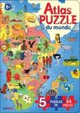 Enrico Lavagno - Atlas Puzzle du monde - 5 puzzles de 54 pièces.