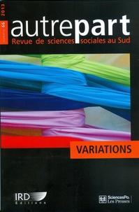 Sciences Po - Autrepart N° 66, 2013 : Variations.