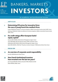 Jean-François Boulier - Bankers, Market & Investors N° 159, december 201 : Determining IPO price for innovative firms - The case of young french.