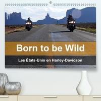 Mike Kaercher - Born to be wild – Les États-Unis en Harley-Davidson (Calendrier supérieur 2020 DIN A2 horizontal) - Les magnifiques paysages du Sud-Ouest américain vus de la selle d'une Harley (Calendrier mensuel, 14 Pages ).