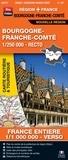Blay-Foldex - Bourgogne-Franche-Comté, 1/250 000, recto - France entière, 1/1 000 000, verso.