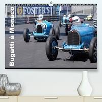 Alain Hanel - CALVENDO Art  : Bugatti en course à Monaco (Premium, hochwertiger DIN A2 Wandkalender 2021, Kunstdruck in Hochglanz) - Ettore Bugatti a signé un mythe (Calendrier mensuel, 14 Pages ).