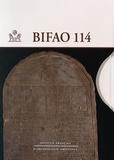 Béatrix Midant-Reynes - Bulletin de l'IFAO N° 114 : 2 volumes.