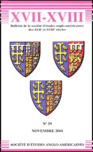 Robert Ellrodt - Bulletin de la Société d'Etudes Anglo-Américaines des XVIIe et XVIIIe siècles N° 59, Novembre 2004 : .