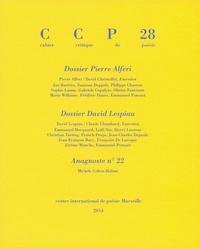 Jean-Pierre Boyer et Emmanuel Ponsart - Cahier critique de poésie N° 28, 2013/2 : .