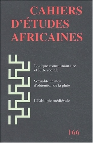 EHESS - Cahiers d'études africaines N° 166 : .