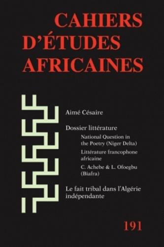 Oyeniyi Okunoye - Cahiers d'études africaines N° 191/2008 : Littérature.