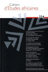 Eloi Ficquet et Benoît Hazard - Cahiers d'études africaines N° 224 : .
