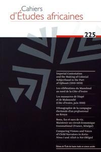 Eloi Ficquet et Benoît Hazard - Cahiers d'études africaines N° 225/2017 : .