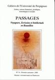 Paul Carmignani - Cahiers de l'université de Perpignan N° 14, 1993 : Passages : voyageurs, écrivains et intellectuels en Roussillon.
