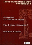 Alain-Charles Masquelet et René Amalberti - Cahiers du Cercle Nicolas Andry Hors-série 2014 : .
