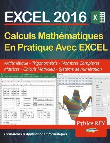 Patrice Rey - Calculs mathematiques en pratique avec Excel 2016.
