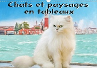 K.a. Sudpastel - Chats et paysages en tableaux (Calendrier mural 2020 DIN A3 horizontal) - Série de 12 tableaux, créations originales de portraits de chats en extérieur. (Calendrier mensuel, 14 Pages ).