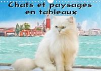 K.a. Sudpastel - Chats et paysages en tableaux (Calendrier mural 2020 DIN A4 horizontal) - Série de 12 tableaux, créations originales de portraits de chats en extérieur. (Calendrier mensuel, 14 Pages ).