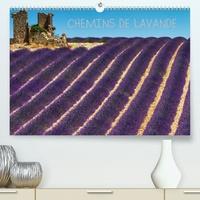Michel Angot - Chemins de lavande(Premium, hochwertiger DIN A2 Wandkalender 2020, Kunstdruck in Hochglanz) - Paysages de champs de lavande (Calendrier mensuel, 14 Pages ).