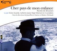 Jean-Pierre Guéno et Hubert Thébault - Cher pays de mon enfance. 1 CD audio