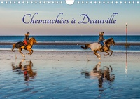 Christof Dardenne - CALVENDO Places  : Chevauchées à Deauville (Calendrier mural 2020 DIN A4 horizontal) - Chevauchées à Deauville en lever de soleil automnal (Calendrier mensuel, 14 Pages ).
