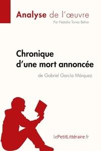Natalia Torres Behar - Chronique d'une mort annoncée de Gabriel Garcia Marquez.