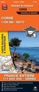 Blay-Foldex - Corse, 1/200 000, recto - France entière, 1/1 000 000, verso.