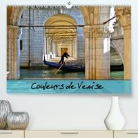 Catherine Gaffiero - Couleurs de Venise (Calendrier supérieur 2020 DIN A2 horizontal) - Promenade colorée au fil des canaux. (Calendrier mensuel, 14 Pages ).