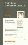 Catherine Perron - Critique internationale N° 24, Juillet 2004 : Promouvoir la démocratie ?.