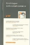 Catherine Perron et Jean-Marie Bouissou - Critique internationale N° 37 : .
