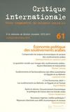 Eberhard Kienle et Laurence Louër - Critique internationale N° 61, Octobre-décem : Economie politique des soulèvements arabes.