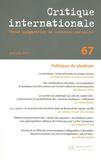 Etienne Ollion et Johanna Siméant - Critique internationale N° 67, Avril-juin 20 : Politiques du plaidoyer.