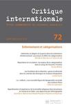 Laurence Louër - Critique internationale N° 72, juillet-septe : Enfermements et catégorisations.