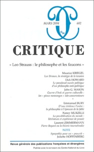 Maurice Kriegel et Dick Howard - Critique N° 682 Mars 2004 : Leo Strauss : le philosophe et les faucons.